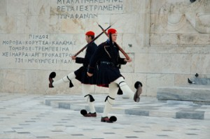 Tomb of the Unknown Soldier, Athens. Copyright 2013, Corey Sandler