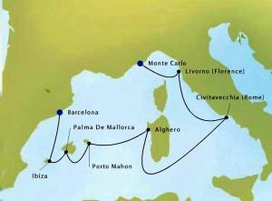 Silversea Map 2409