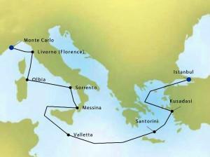 Silversea Map 2410