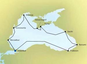 Silversea Map 2411