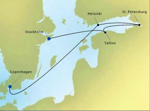 Silversea Map 4414